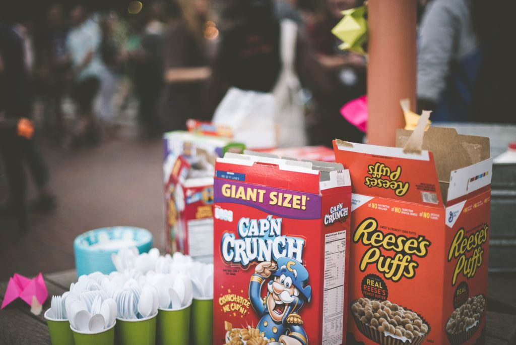 Photo of Captain Crunch and Reese's Puffs breakfast cereals