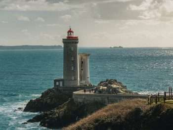 A lighthouse in Brittany, France